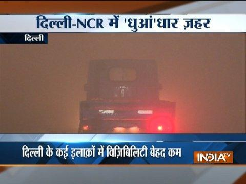 Delhi-NCR wakes up to a blanket of smoke; all Delhi primary schools closed today