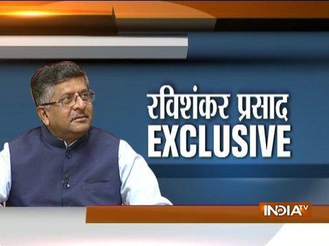 Law and IT minister Ravi Shankar Prasad on IndiaTV Opinion Poll