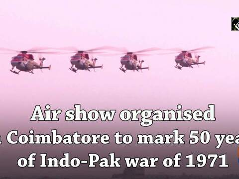 Air show organised in Coimbatore to mark 50 years of Indo-Pak war of 1971
