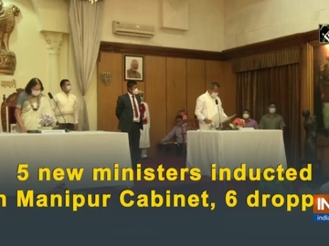 5 new ministers inducted in Manipur Cabinet, 6 dropped