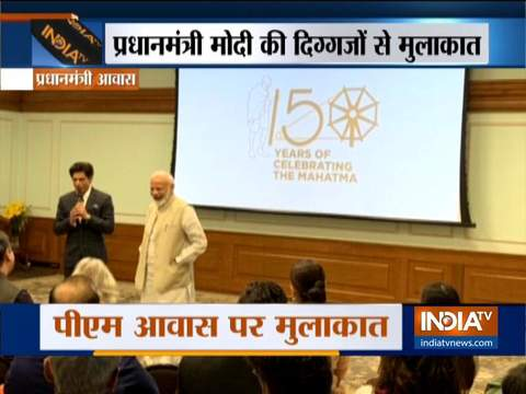 PM Modi celebrates 150 Years of Mahatma Gandhi with SRK, Aamir and others
