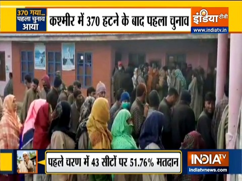 J&K DDC Election: 51.76 percent voting recorded in first phase