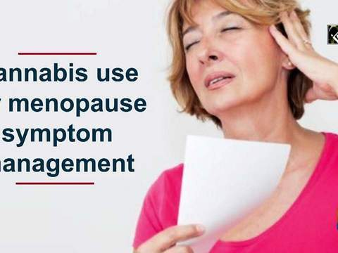 Cannabis use for menopause symptom management