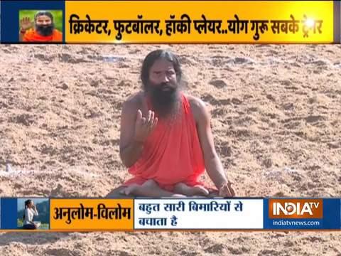स्वामी रामदेव से जानिए खिलाड़ी में रहकर खुद को कैसे रख सकते हैं फिट