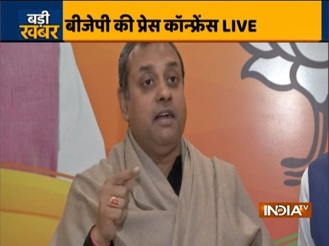 Sambit Patra attacks Rahul Gandhi over his absence on Congress Foundation Day