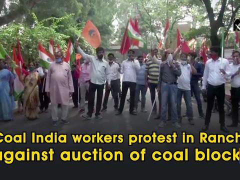 Coal India workers protest in Ranchi against auction of coal blocks