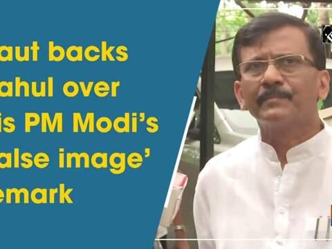 Raut backs Rahul over his PM Modi's 'false image' remark