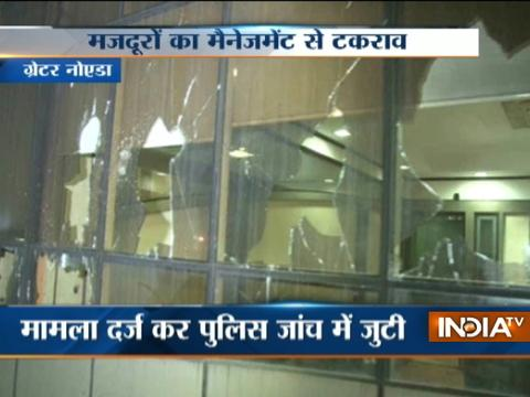Biscuit company office vandalized after worker assaulted by management in Grater Noida