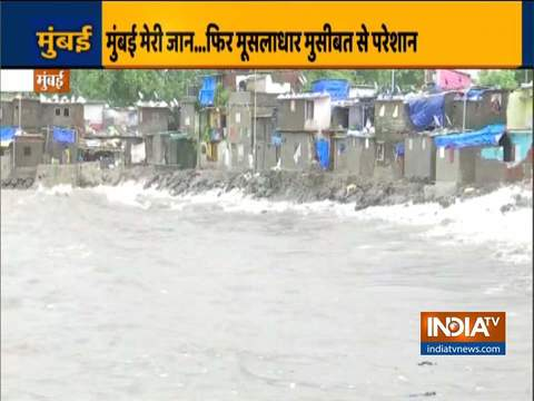 Heavy rainfall in Mumbai today; high tide warning issued