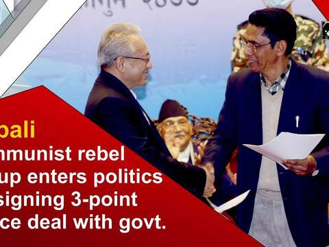 Nepali communist rebel group enters politics by signing 3-point peace deal with govt