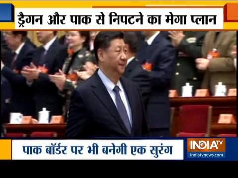 भारत ने चीन, पाकिस्तान की सीमाओं पर चार सुरंगें बनाने की योजना बनायीं