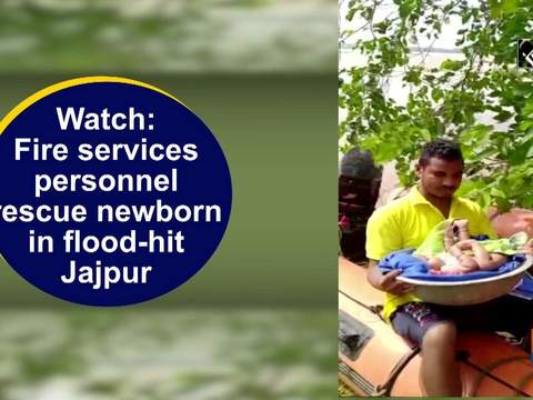 Watch: Fire services personnel rescue newborn in flood-hit Jajpur