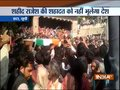 Thousands gather to pay last respect to martyr Rajesh Yadav in UP's Etah