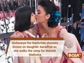 Aishwarya Rai Bachchan showers kisses on daughter Aaradhya as she walks for Manish Malhotra