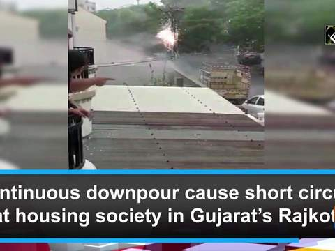 Continuous downpour cause short circuit at housing society in Gujarat's Rajkot