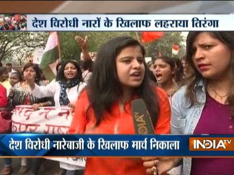 Ramjas College Protest: ABVP conducts 'save DU' march