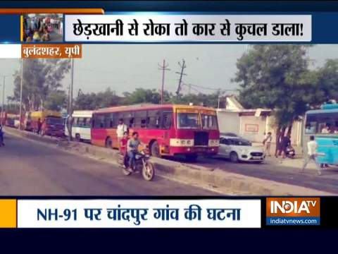 Failed to molest woman, culprits run over two of her family members in Bulandshahr (watch video)