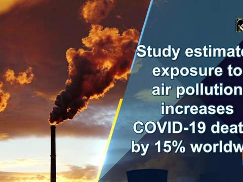 Study estimates exposure to air pollution increases COVID-19 deaths by 15% worldwide