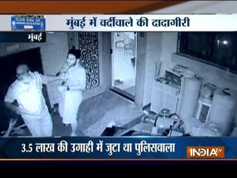 Mumbai: Policeman caught on camera assaulting a man