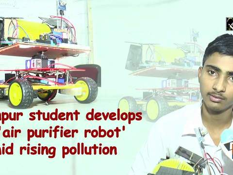 Kanpur student develops 'air purifier robot' amid rising pollution