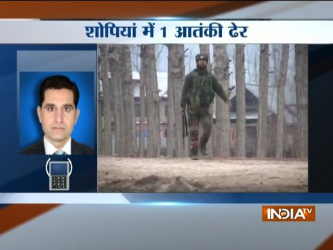 Security forces shot-down terrorist in Shopian encounter