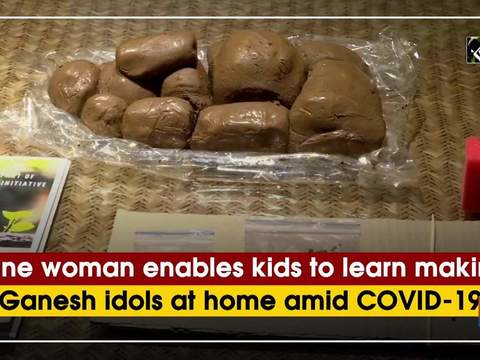 Pune woman enables kids to learn making Ganesh idols at home amid COVID-19
