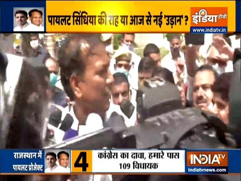 कांग्रेस विधायक राजेंद्र गुड्डा का दावा है कि कांग्रेस पार्टी के पास 100 विधायकों का समर्थन है