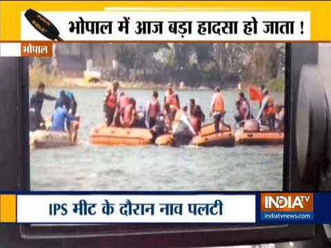 भोपाल में IPS मीट के दौरान बड़ी झील में पलटी नाव, 8 लोगों को बचाया गया
