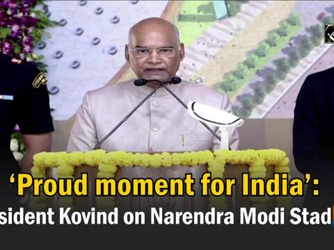 'Proud moment for India': President Kovind on Narendra Modi Stadium