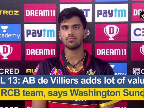 IPL 2020: AB de Villiers adds lot of value to RCB team, says Washington Sundar