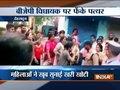 Angry locals pelt stones at CM Trivendra Singh Rawat over poor civic amenities in Dehradun