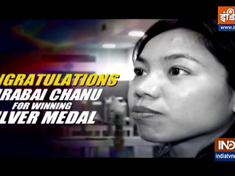 Congratulations Mirabai Chanu for winning silver medal at Tokyo Olympics 2020