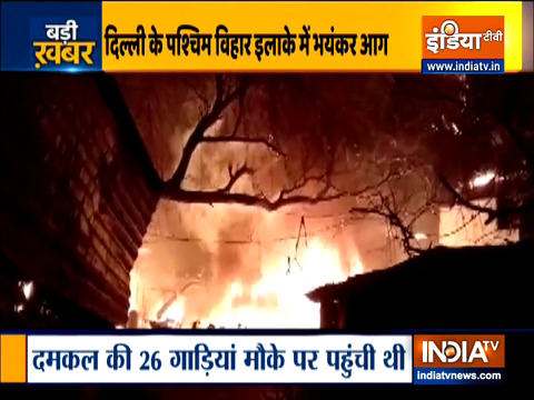 Delhi: Fire breaks out in Slum cluster of Paschim Vihar, no casualty reported