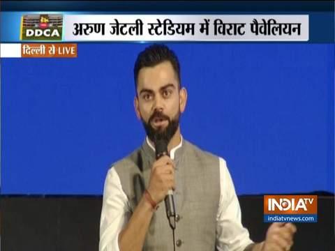 DDCA unviels new pavilion stand after Virat kohli; Indian captain calls it a 'proud moment'