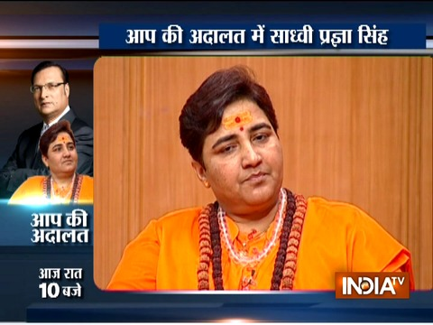 Sadhvi Pragya in Aap Ki Adalat: 'I was tortured continuously for 24 days in jail'