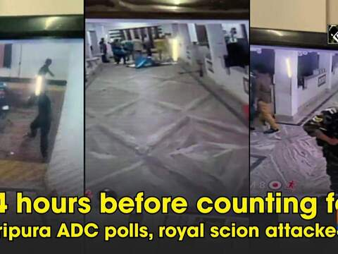 24 hours before counting for Tripura ADC polls, royal scion attacked