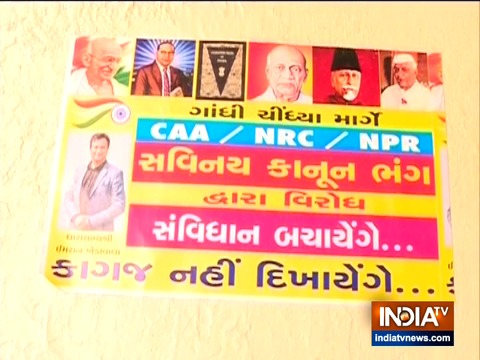 Anti-NPR posters spring up in Ahmedabad's minority areas