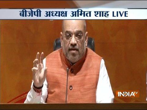 PM मोदी ने परिवारवाद और जातिवाद को बदलकर पॉलिटिक्स ऑफ डेवेलपेंट शुरू किया: अमित शाह