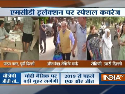 MCD Elections 2017 Live Updates: Delhi Lt. Governor Anil Baijal cast his vote in Greater Kailash