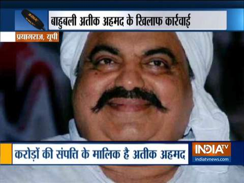 Police seizes property of gangster Ateeq Ahmed worth crores in Prayagraj