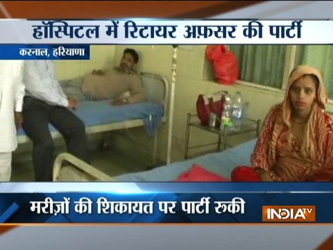 Haryana: In Karnal, hospital turns into banquet hall for officer's farewell party