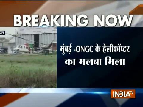 4 dead after chopper carrying ONGCemployees crashes off Mumbai coast, 3 missing