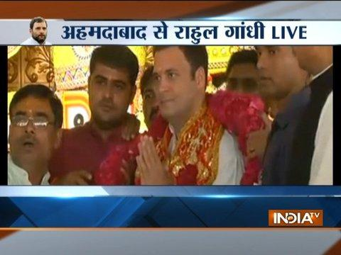 Gujarat Polls 2017: Congress President Rahul Gandhi visits Jagannath Temple in Ahmedabad