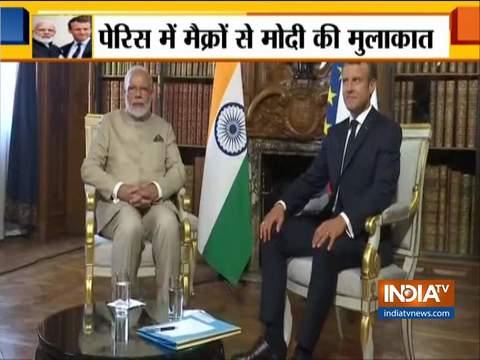 पीएम मोदी ने फ्रांस के राष्ट्रपति इमैनुएल मैक्रॉन के साथ द्विपक्षीय बैठक की
