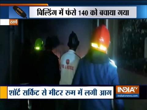 Fire breaks out inside metre room in Shree Rajdarshan Society in Thane