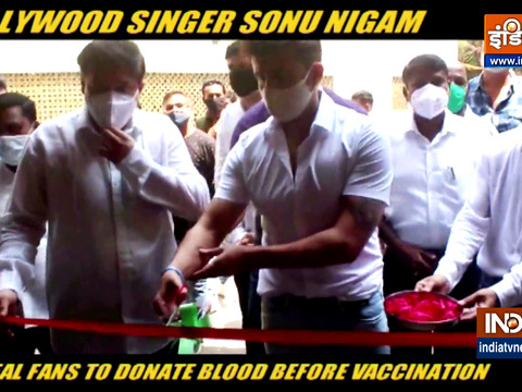 Sonu Nigam inaugurated blood donation camp in Mumbai