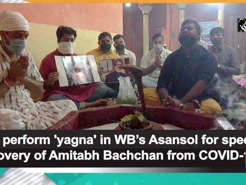 Fans perform 'yagna' in WB's Asansol for speedy recovery of Amitabh Bachchan from COVID-19