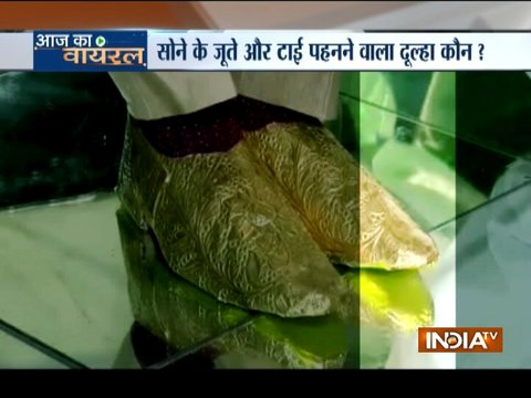 Aaj Ka Viral: Pakistani groom wears gold tie and shoes worth Rs 22 lakh