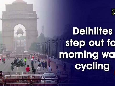 Delhiites step out for morning walk, cycling