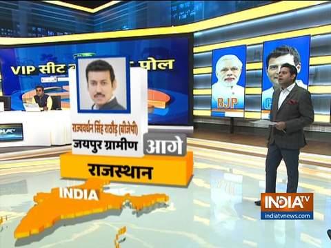 इंडिया टीवी एग्जिट पोल: ग्रामीण जयपुर से राज्यवर्धन सिंह राठौर, बाड़मेर से मानवेन्द्र सिंह आगे
